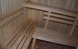 Баня на дровах, лежаки и вагонка из липы