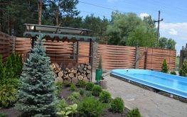 "Вилла ""Green Wood"", территория, беседка, зеленый уголок, бассейн"